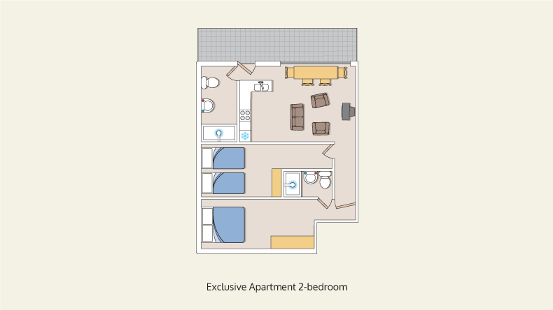 apartments exclusive 2 bedroom