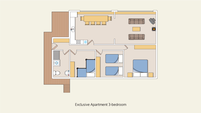 apartments exclusive 3 bedroom