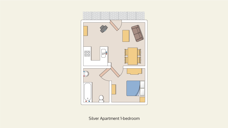 apartments silver 1 bedroom