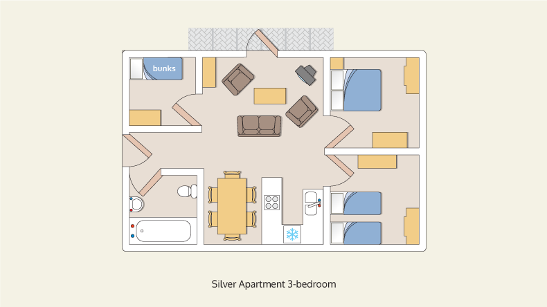 apartments silver 3 bedroom
