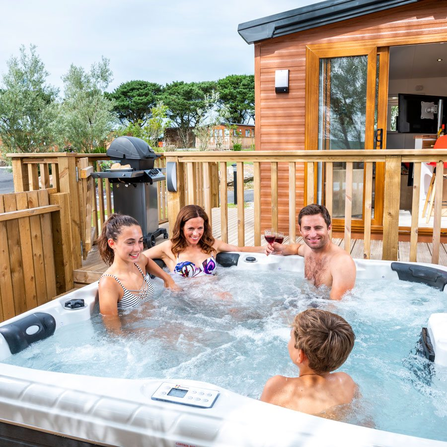 Devon holiday caravans with hot tub