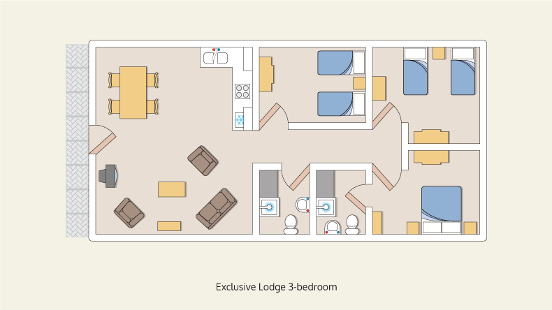 lodges exclusive 3 bedroom