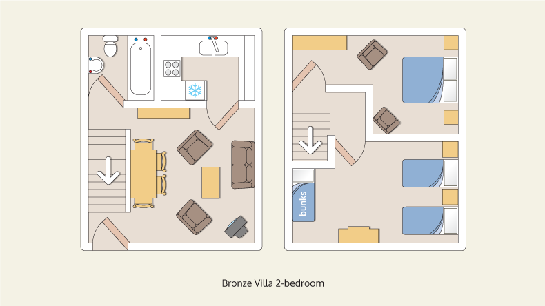 villa bungalows bronze 2 bedroom