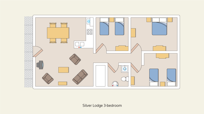 lodges silver 3 bedroom