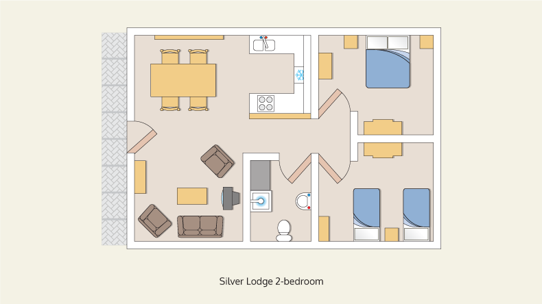 wheelchair friendly lodge silver 2 bedroom