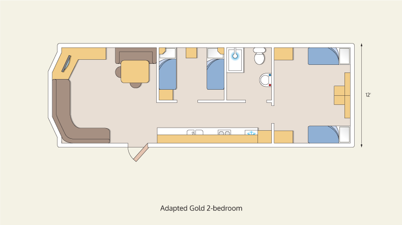 wheelchair friendly gold 2 bedroom