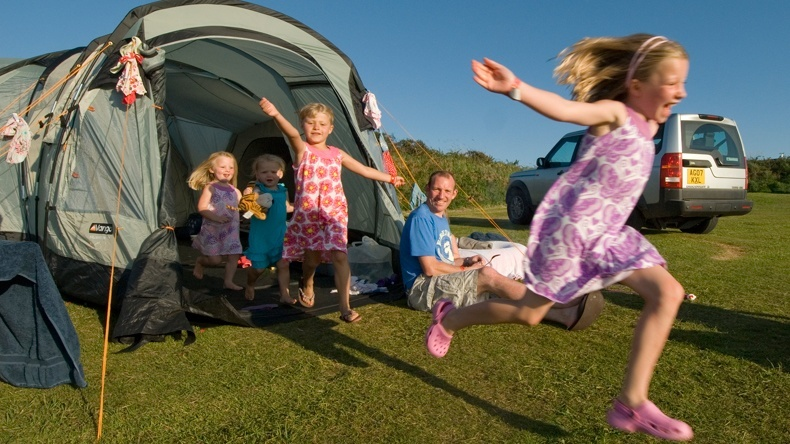 Grass Tent Camping Pitch Twitchen House
