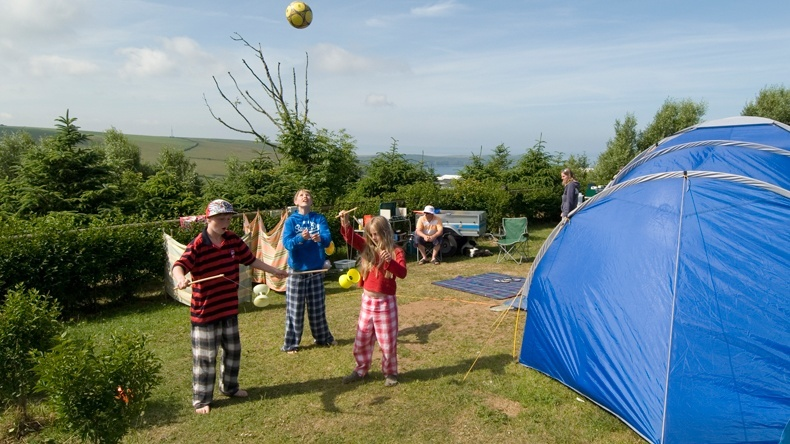 Grass Electric Camping Pitch Woolacombe Bay