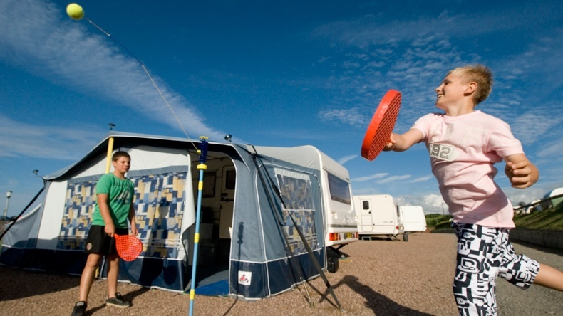 Electric Caravan Touring All Weather Pitch Twitchen House Holiday Park