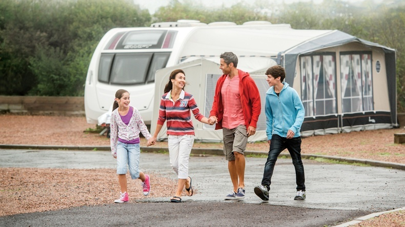 Super All Weather Touring Caravan Pitch Twitchen House