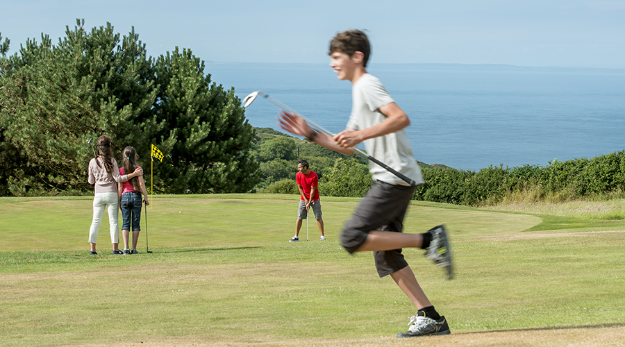 Golf course near Ilfracombe and Saunton Sands in Devon