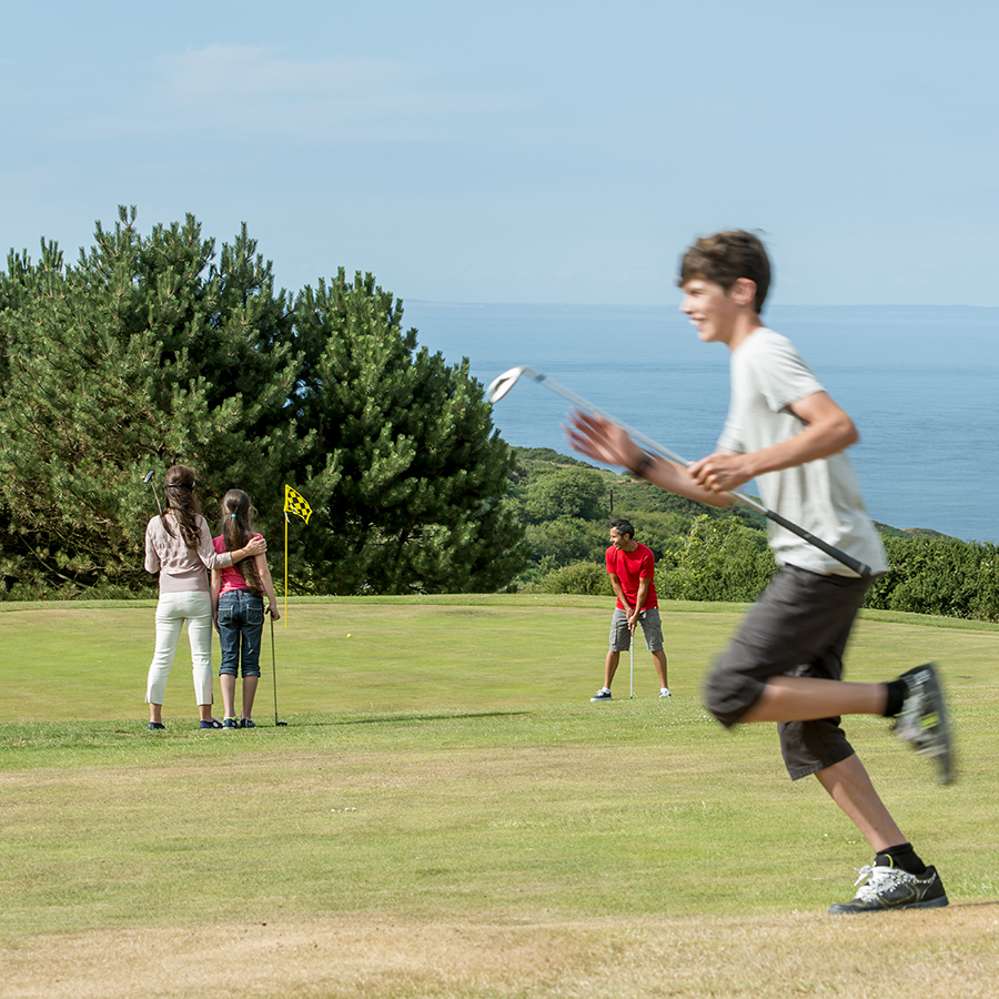 Sea view golf course Devon