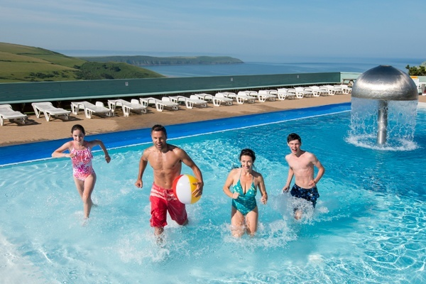 Outdoor pool at Woolacombe Bay Holiday Park